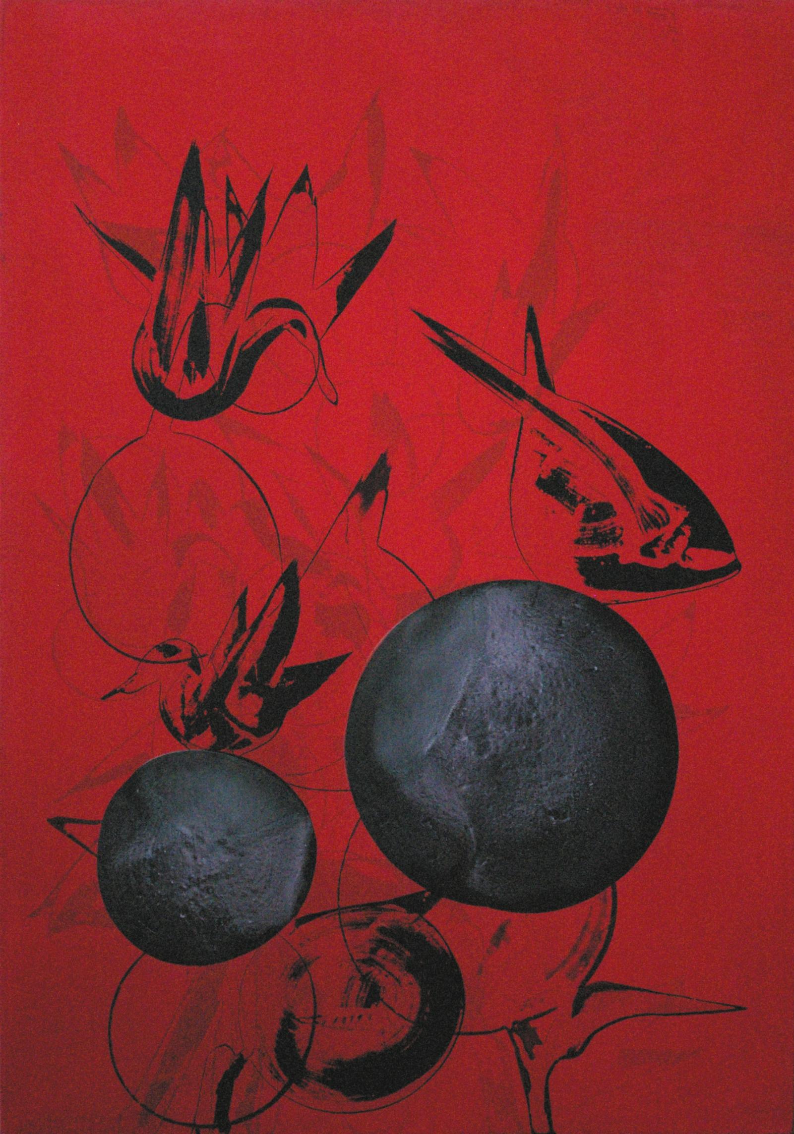SoHyun Bae, Due Palle, 2007, acrylic on canvas, 100 x 70 cm