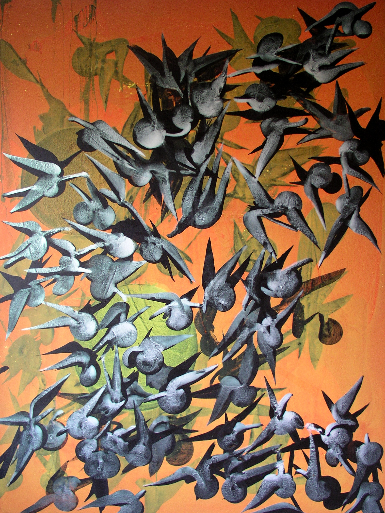 SoHyun Bae, Attack, 2008, acrylic on canvas, 200 x 150 cm