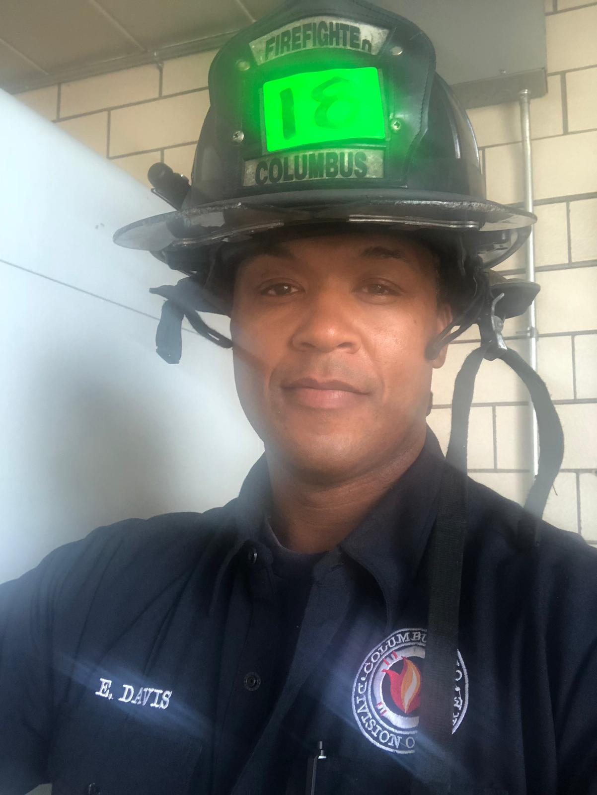 """President - Edward """"Ed"""" Davis a nine year CFD vet brings three years from Dayton Ohio fire. Davis is a Paramedic assigned to Station 18 on 2 Unit. He has certification in Hazmat, Bomb Squad, and the Fire Alarm Office."""