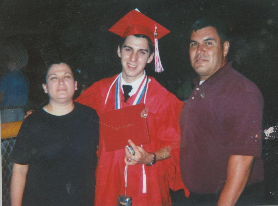 2005 - High School Graduation from Sharyland High School (Mission, TX) - Carmen Holguin, Eric Holguin, Alfredo Holguin Jr.