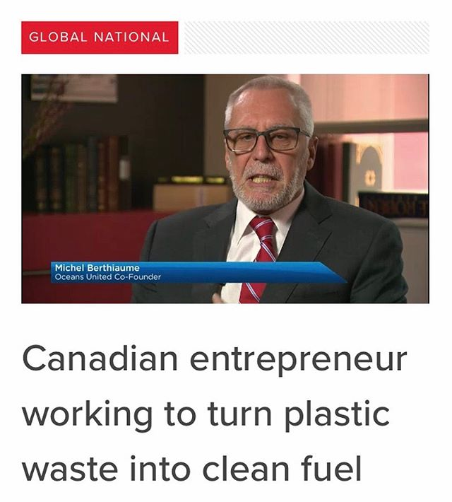 What a great interview/ update by @globalnews! #action #plastics #recycling #oceans #wastemanagement #sustainable #solutions #impact https://globalnews.ca/video/5963928/canadian-entrepreneur-working-to-turn-plastic-waste-into-clean-fuel