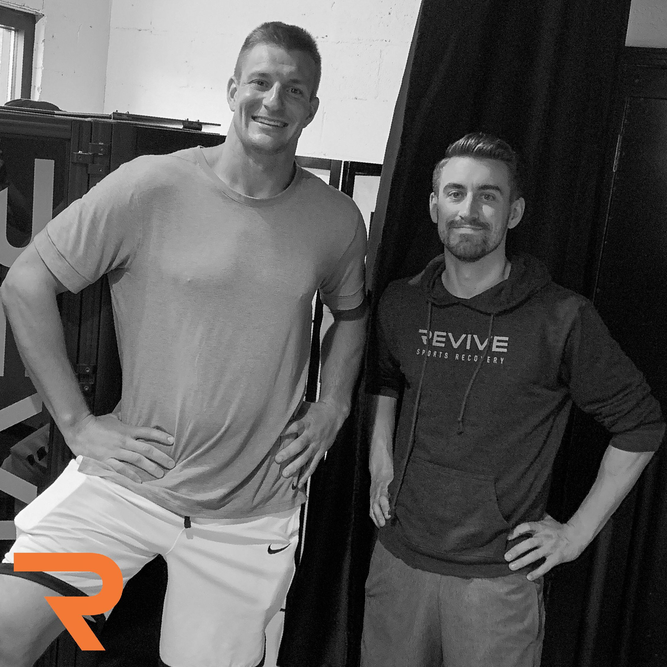 Getting Gronk in for a stretch and some Cryo