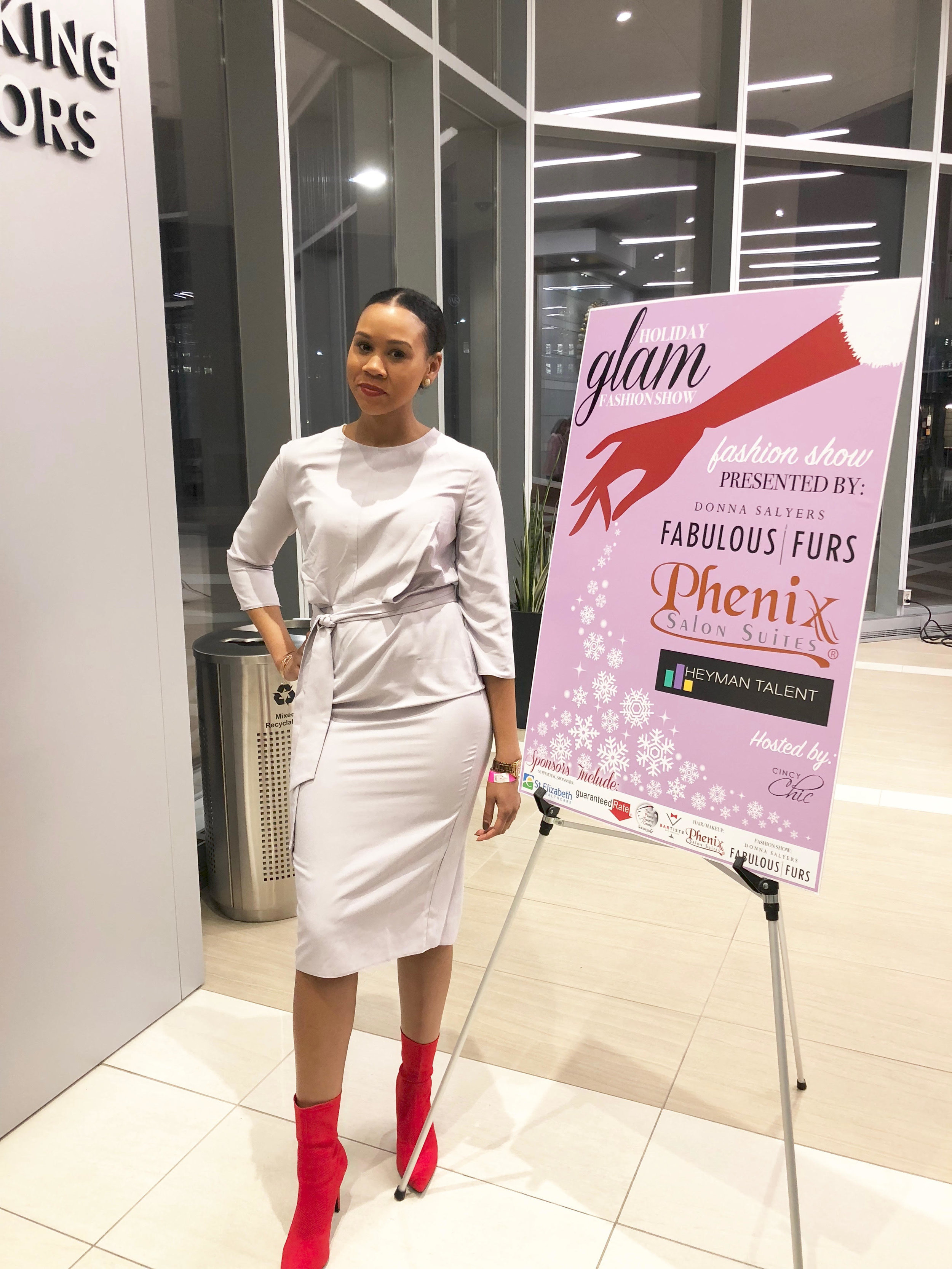 2018 Holiday Glam Fashion Show featuring Donna Salyers Fabulous Furs hosted by Cincy Chic Magazine