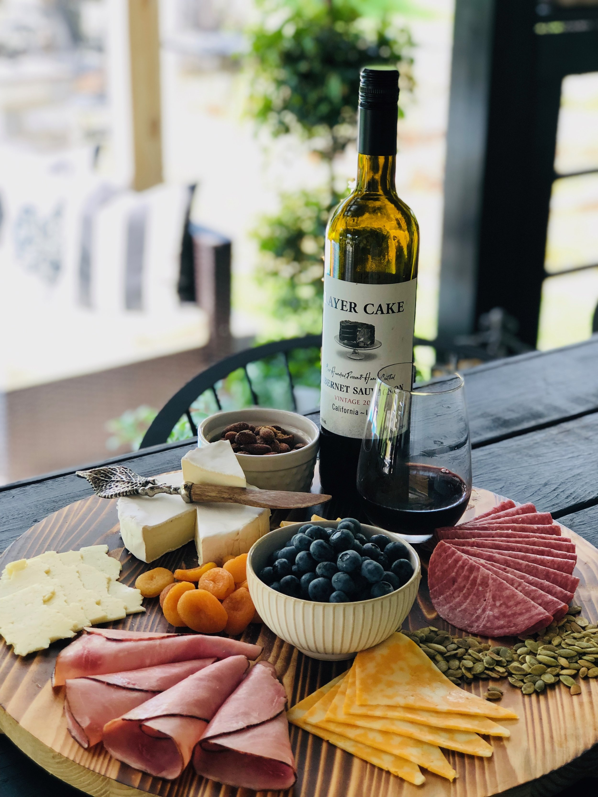 Custom Cheese Board Awaiting your arrival