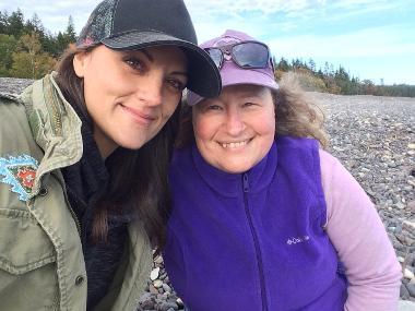 McCall and Heather, Jasper Beach Healing Retreat, Maine 2018