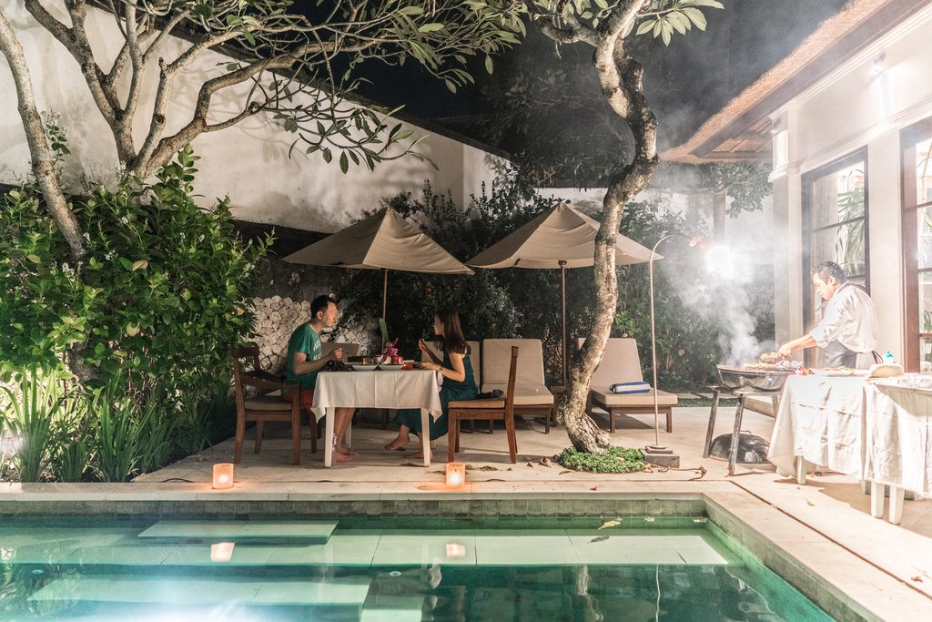 In-villa barbeque is such a fantastic option for we got to dine in comfort - barefoot!