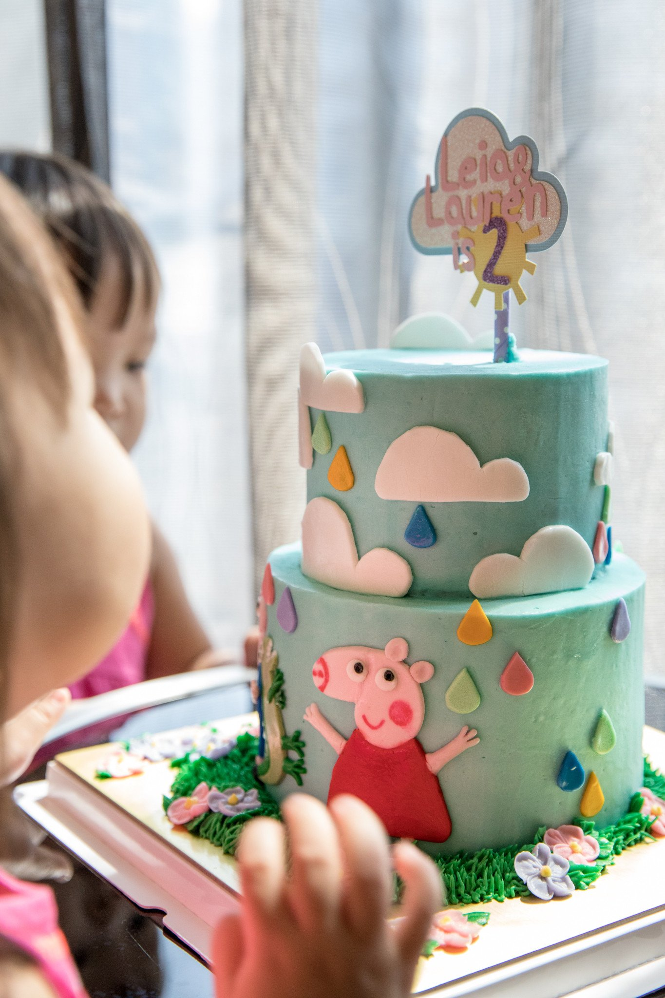 We promised them a Peppa Cake, had to keep our word. Thankful for Sophessa Cakes and Circussg who were able to deliver this beautiful customised 2-tier lychee rose cake in such short notice. The girls were over the moon with all their favourite elements on it =)