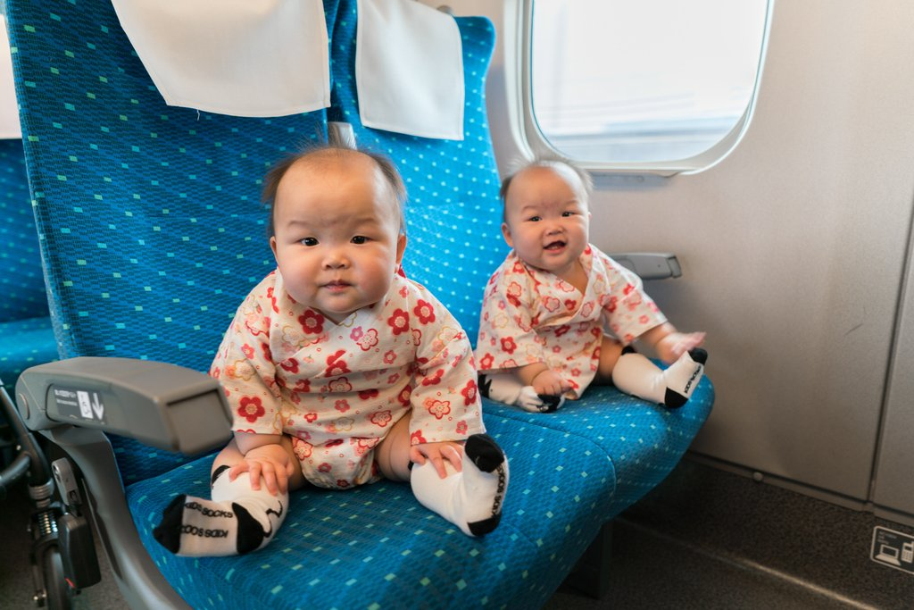 Big seats to fill, we are heading to Kyoto on our first Shinkansen ride!