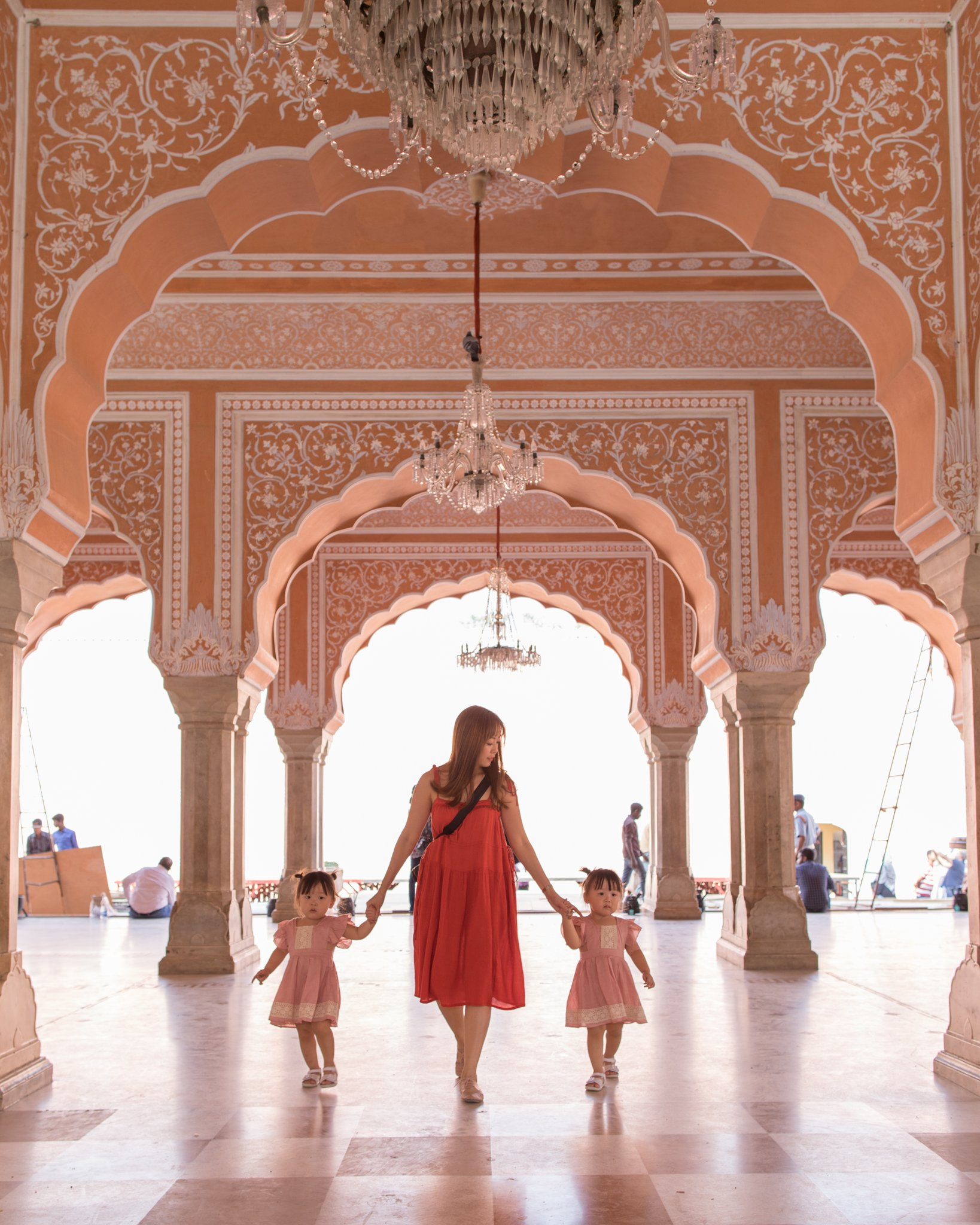 Entering the Diwan-i-Khas (Hall of Private Audience) in the middle of City Palace.