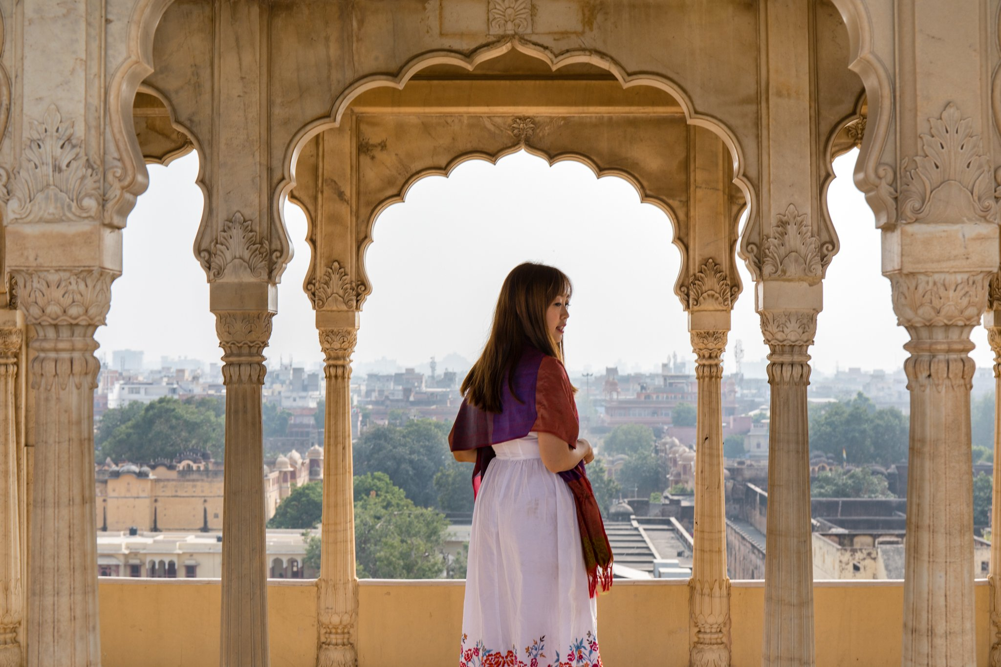 The seventh or the top floor of the Chandra Mahal, also known as Mukut Mandir, gave a stunning view of the City Palace and Jaipur City.
