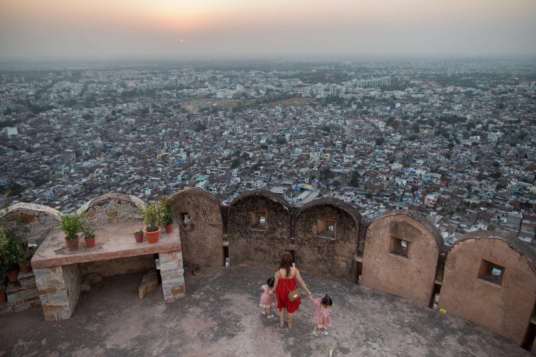 Beautiful view over the pink city