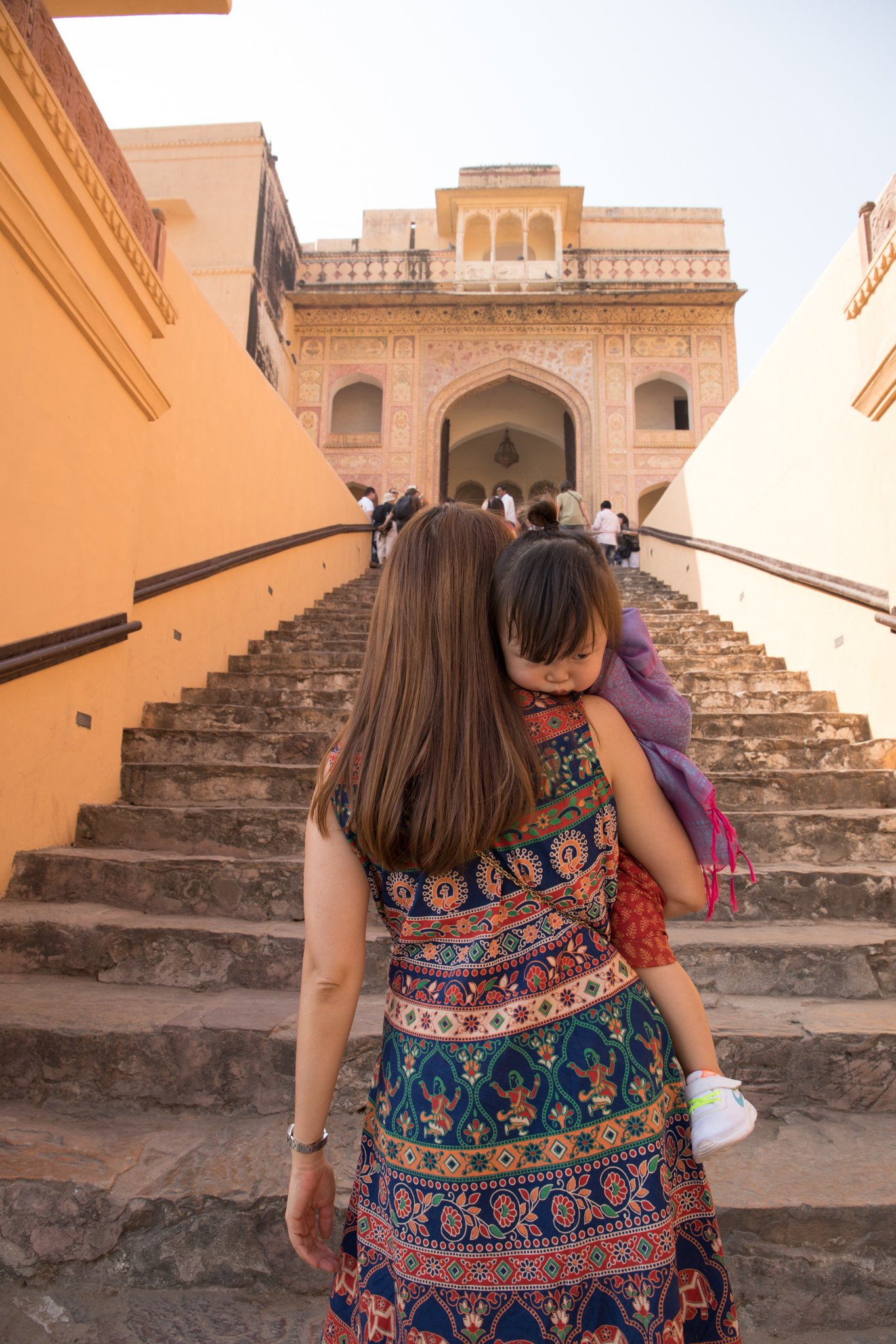 Plenty of steps at Amer Fort
