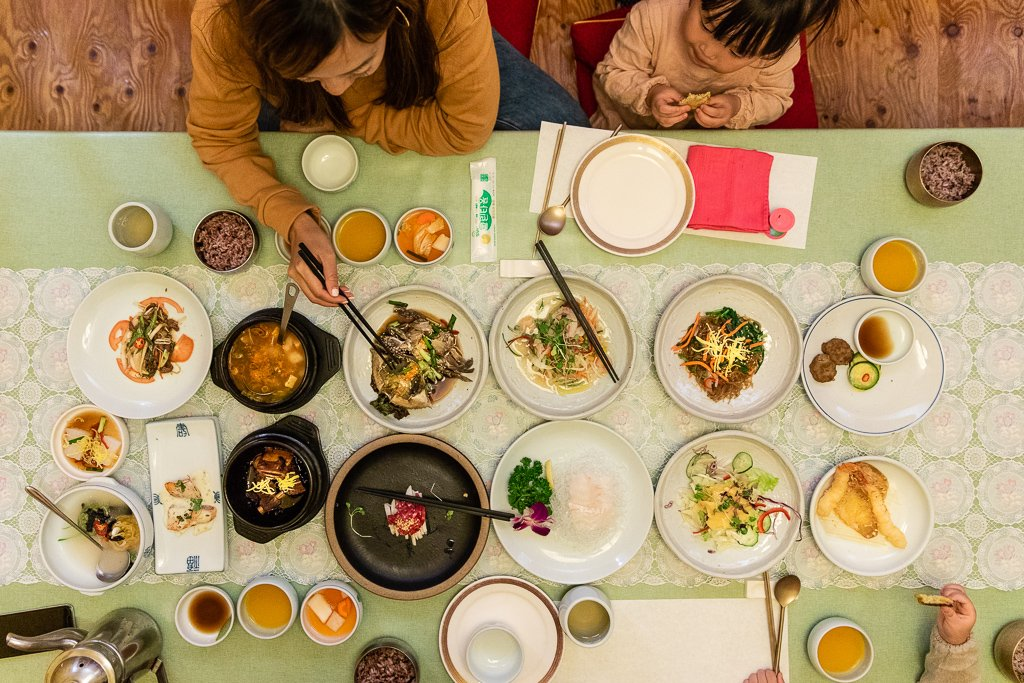 Dinner at  Myeongdongjeong in Seoul (Myeongdong Table d'hote Set 명동정식)