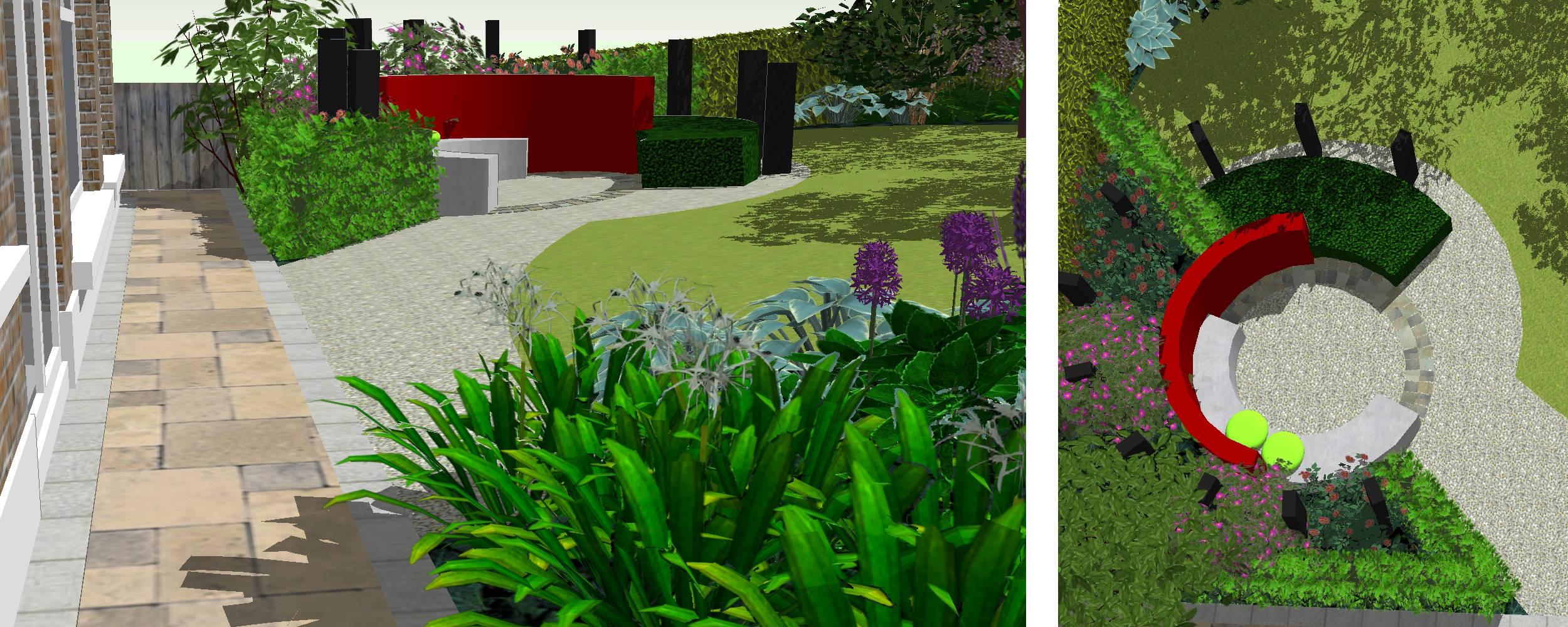 CAN YOU USE CURVES IN A SMALL GARDEN? — ARTHUR CHARLES Radial Garden Design on symmetrical garden design, linear garden design, vertical garden design, asymmetrical garden design, rectangular garden design,