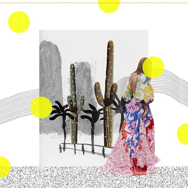 Quite like this one. #cactus #art #fashion #graphicdesign #collageart #collage #digitalcollage #davidhockney
