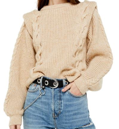 Basil & Turmeric | Women's Topshop Cable Knit Sweater