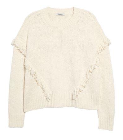 Basil & Turmeric | Women's Madewell Montford Fringe Pullover Sweater