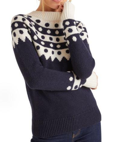 Basil & Turmeric | Women's Boden Rhea Dot Fair Isle Sweater