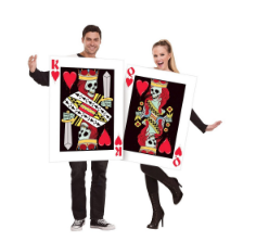 Basil & Turmeric | Halloween King and Queen of Hearts Costume Men's One Size, MultiColored