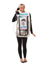 Basil & Turmeric | Adult Pay Phone Halloween Costume One Size