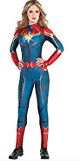 Basil & Turmeric | Costumes USA Light-Up Captain Marvel Halloween Costume for Women, Superhero Jumpsuit