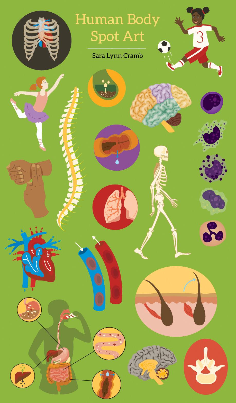 Human body spot art