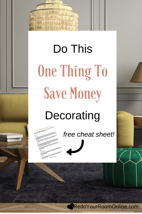 Decorating a home whether it's a space, a room or even a corner can get crazy expensive. I mean when you think about it: paint, furniture, accessories, etc, it can all begin to add up quickly. The good thing is that there are ways to help save money decorating, but by doing this one thing, you'll be sure to be gentle on your purse.