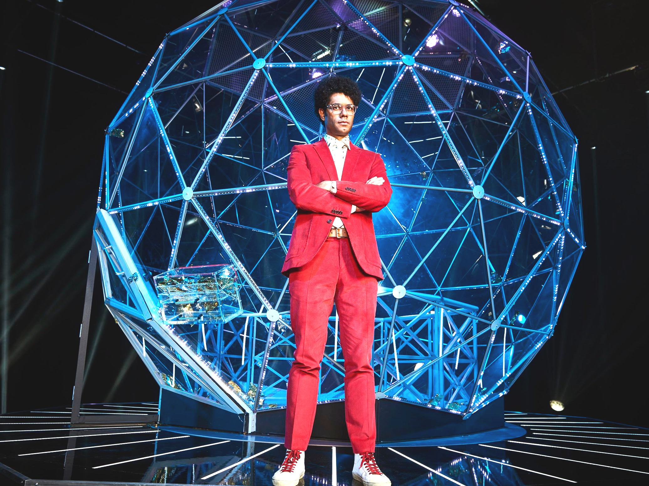 CRYSTAL MAZE   LED installation and gameplay technology / set design: James Dillon, lighting design: Gurdip Mahal
