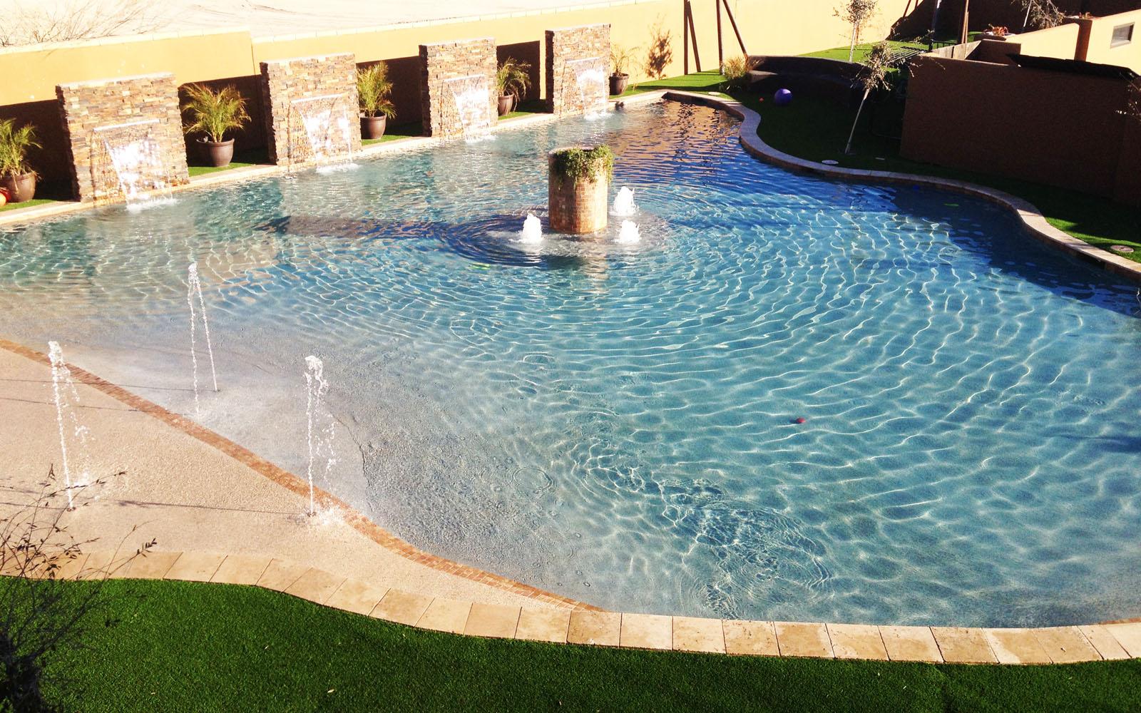 55 ft Beach Entry Pool -