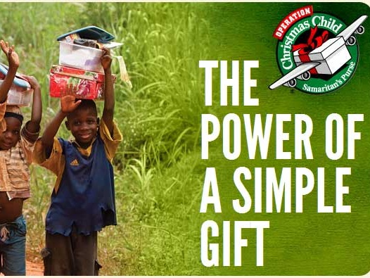 Operation Christmas child - Preparing and sending simple gifts and the love of Jesus to children in need around the world.