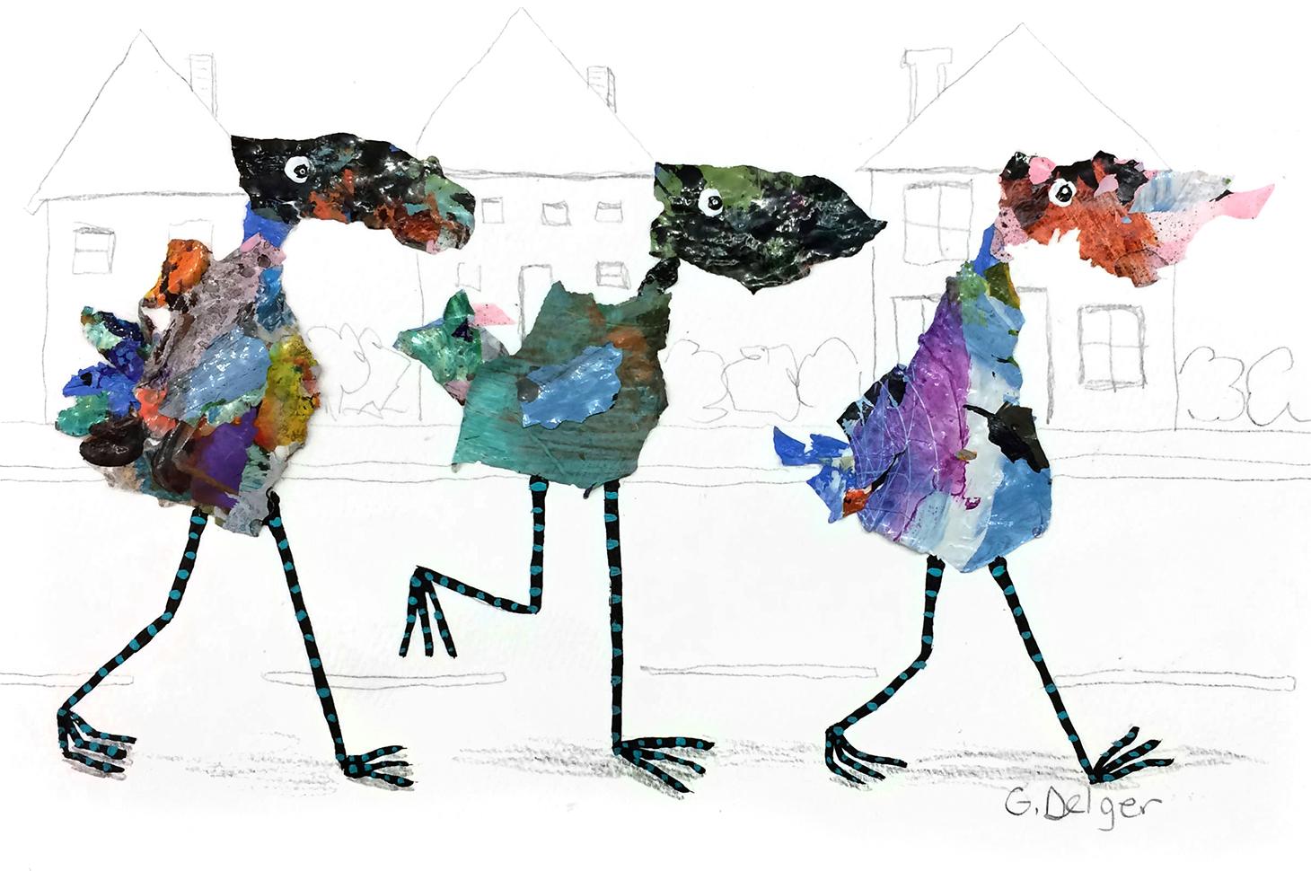 Three Bird Friends