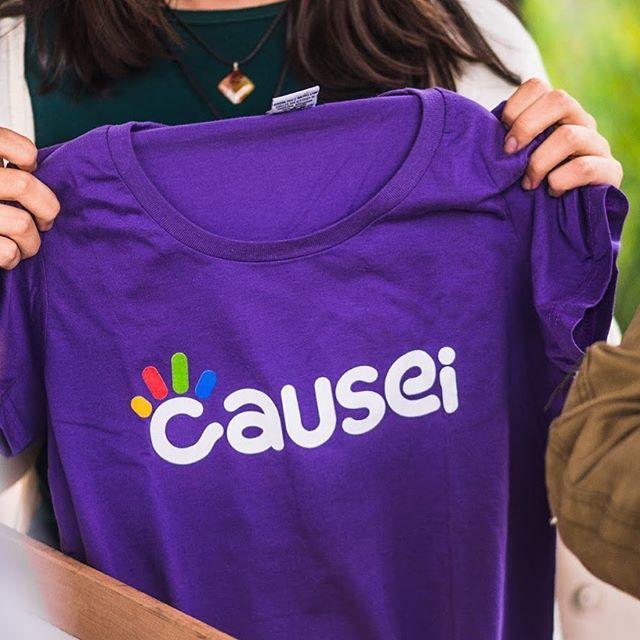 vestindo a camisa para causar: voluntariado com recompensas incríveis 🤘  inscrições abertas para os próximos desafios, entra lá no site pra se cadastrar!  #causeicomvc