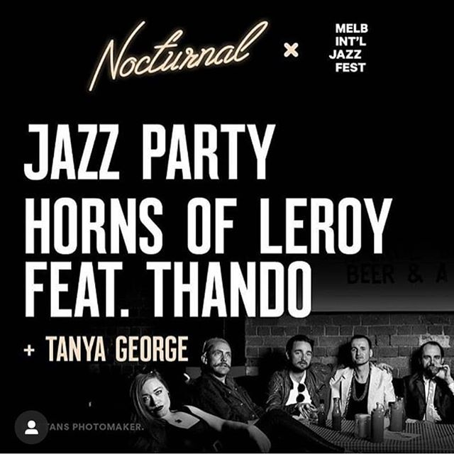 Big party this Friday at @melbournemuseum for Nocturnal.  @thando.music  Tix selling very fast so get in quick!  @jazzparty_band @tanyageorgemusic  @melbjazzfestival . . .  #brass #winter #friends #music #festival #jazz #jazzfest #museum #nightatthemusuem #horns #hornsofleroy #brassband #jazzparty #thando #mijf #festival #carlton #nicholsonst #melbourne #livemusic #live #trumpet #trombone #sousaphone #yamaha #funk #soul #tunes