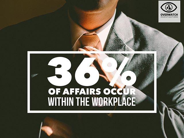 A staggering 36% of affairs occur within the workplace. If you have reason to suspect your partner may be acting inappropriately we can help, link in bio! #derby #nottingham #cheatingpartner #surveillance #privateinvestigator #covert #truth