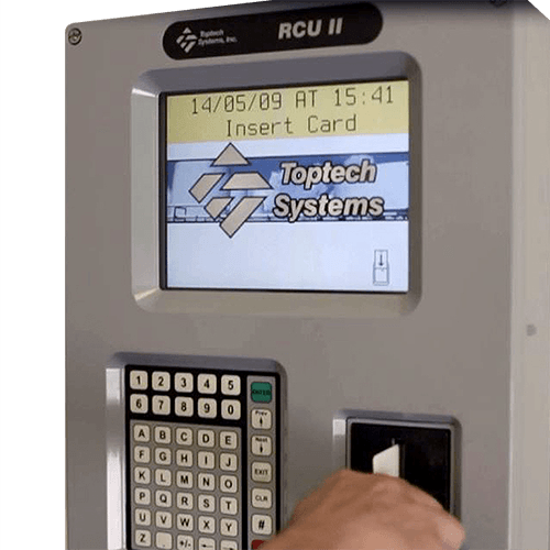 Toptech RCU II - The RCU II is Toptech's easy to use, driver/operator interface that enhances system security with keycard access control measures. The RCU II is programmed to implement control measures such as access to entry and exit gates, load racks, BOL request stations, as well as any other options required by a customer.