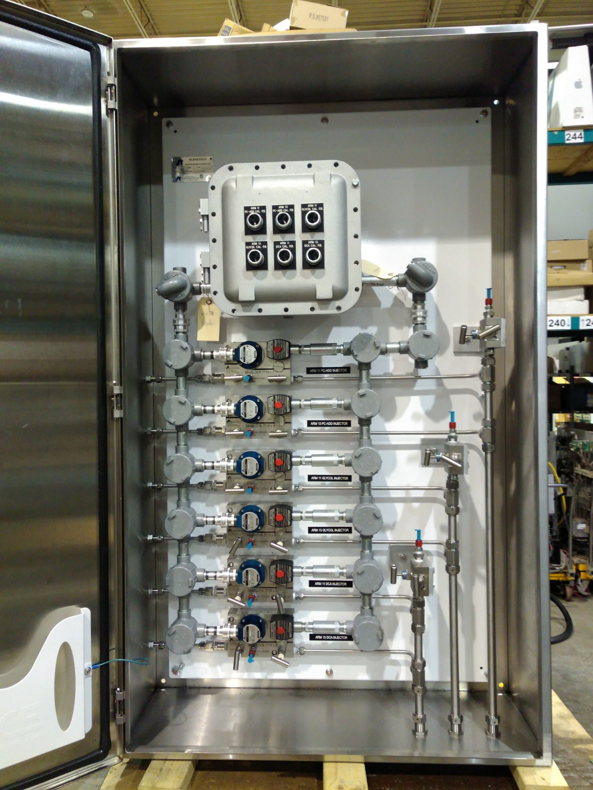 6 Injector Cabinet Front View