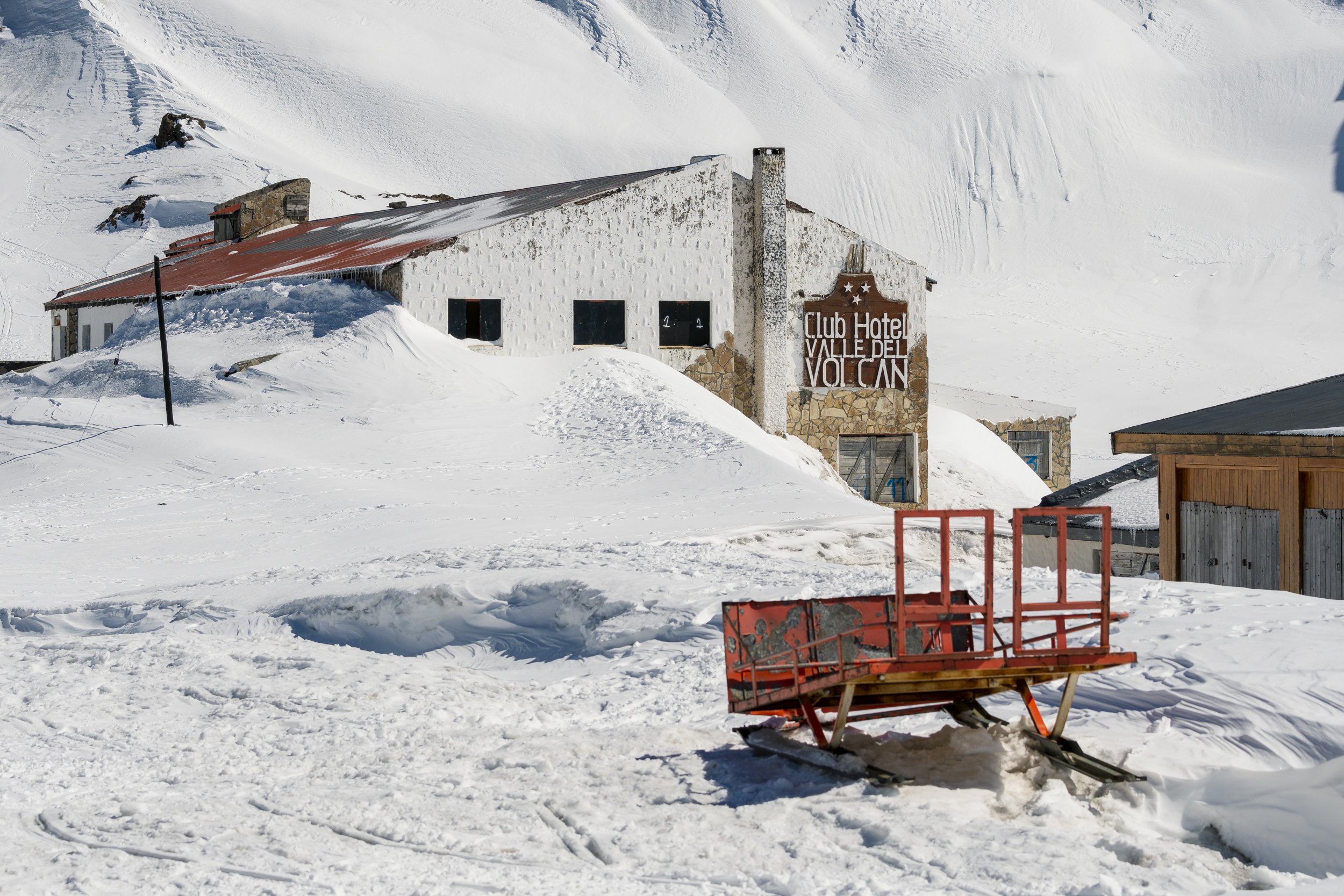 The Town of Copahue is dormant in the winter