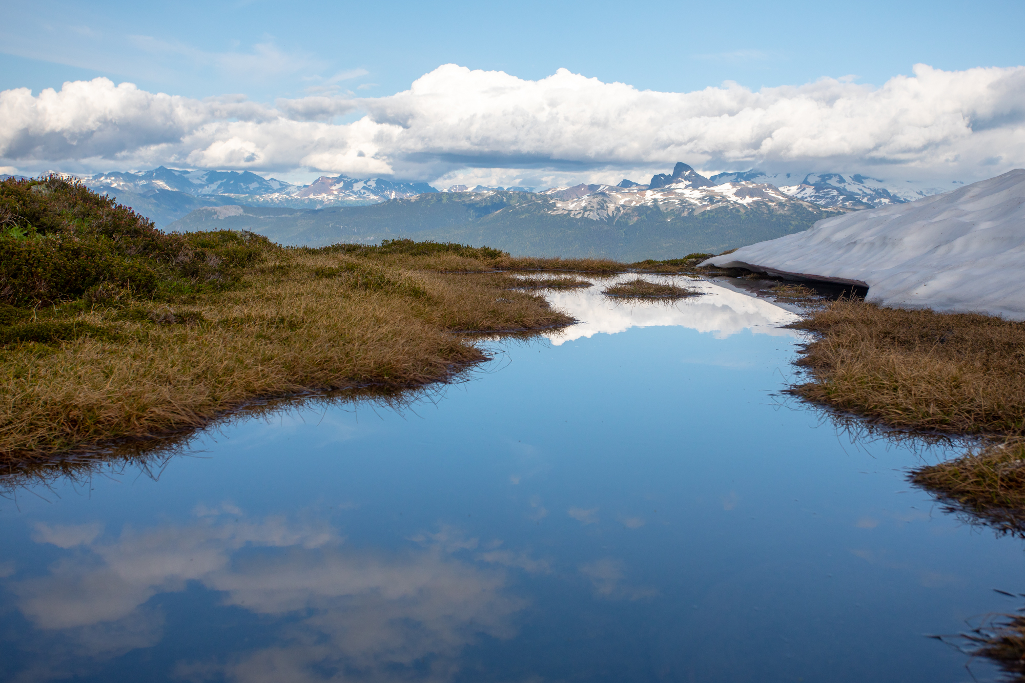 Reflecting pools high in the alpine