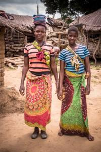Some young Yao women near Mandimba, Mozambique