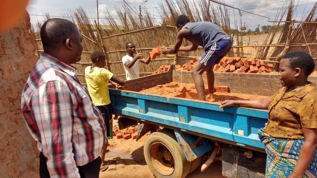 bricks which will be used in our construction projects