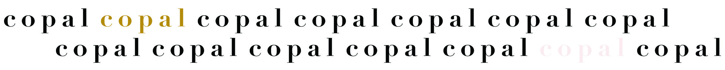 Copal Clean Beauty Logo Repeat