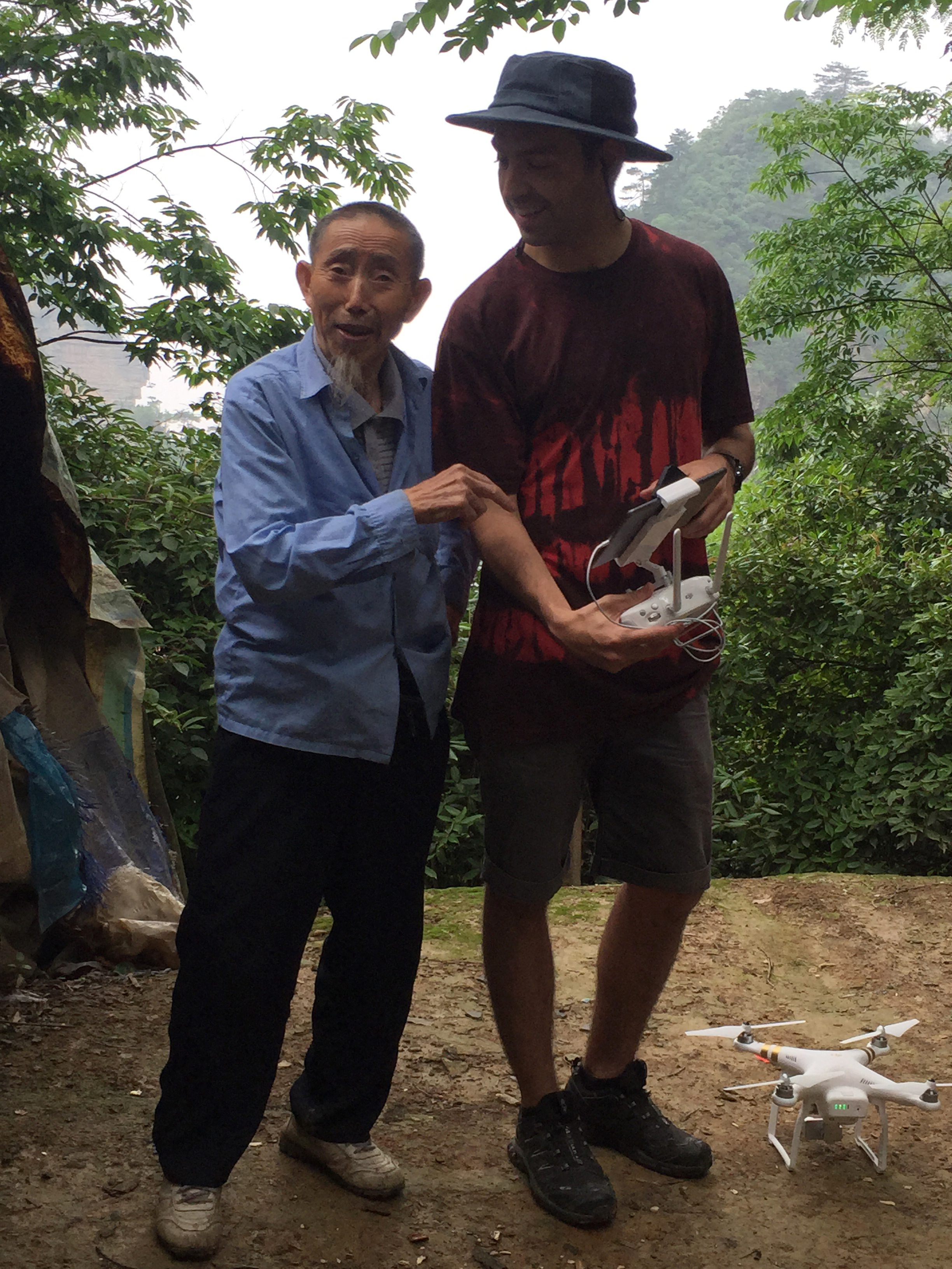 While filming in  Wulingyuan  (China), a local and I discussed the names of mountain peaks in the area.