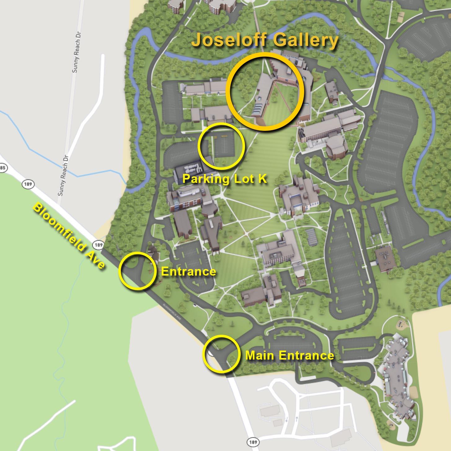 Joseloff Gallery University of Hartford Campus Map