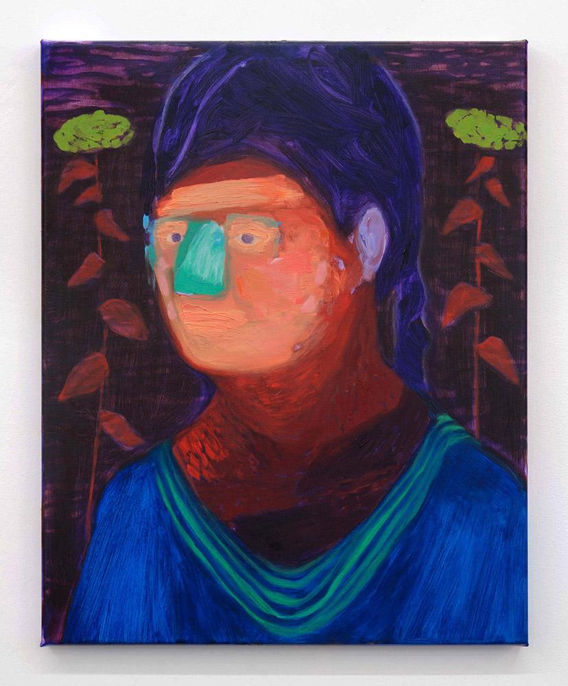 Nicola Farquhar,  Julie , 2012, Oil on canvas, 550 x 450 x 20mm