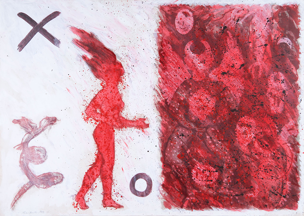 Primary Maker Alexis Hunter,  Untitled , 1982, Media/Materials Acrylic on paper, 760 x 1070mm