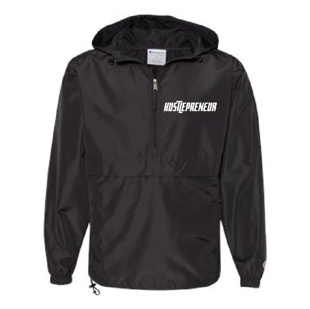 Hustlepreneur X Champion Premium Hooded Windbreaker Pullover Jacket