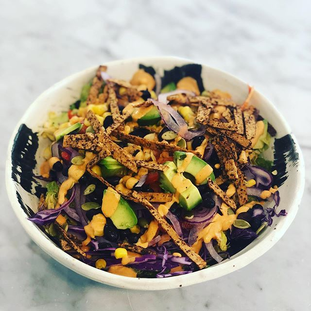 Summer is ending and so is our Summer menu. Better hurry up and come see us before your favorite items are gone until Spring! Gracias Madre salad is bye~bye #organic #lunch #salad #plantbased