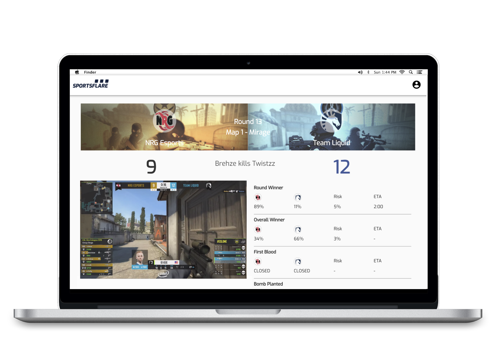Live Odds Dashboard - Empower your CS:GO traders to leverage our AI and create never-before-seen odds, helping you stand out from other sportsbooks.Enhance your CS:GO trading operation.Talk to us today ➝