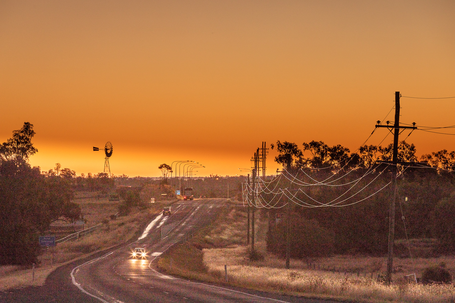Arriving Late in Roma Queensland. Landscape EDPI. Harry Clarke