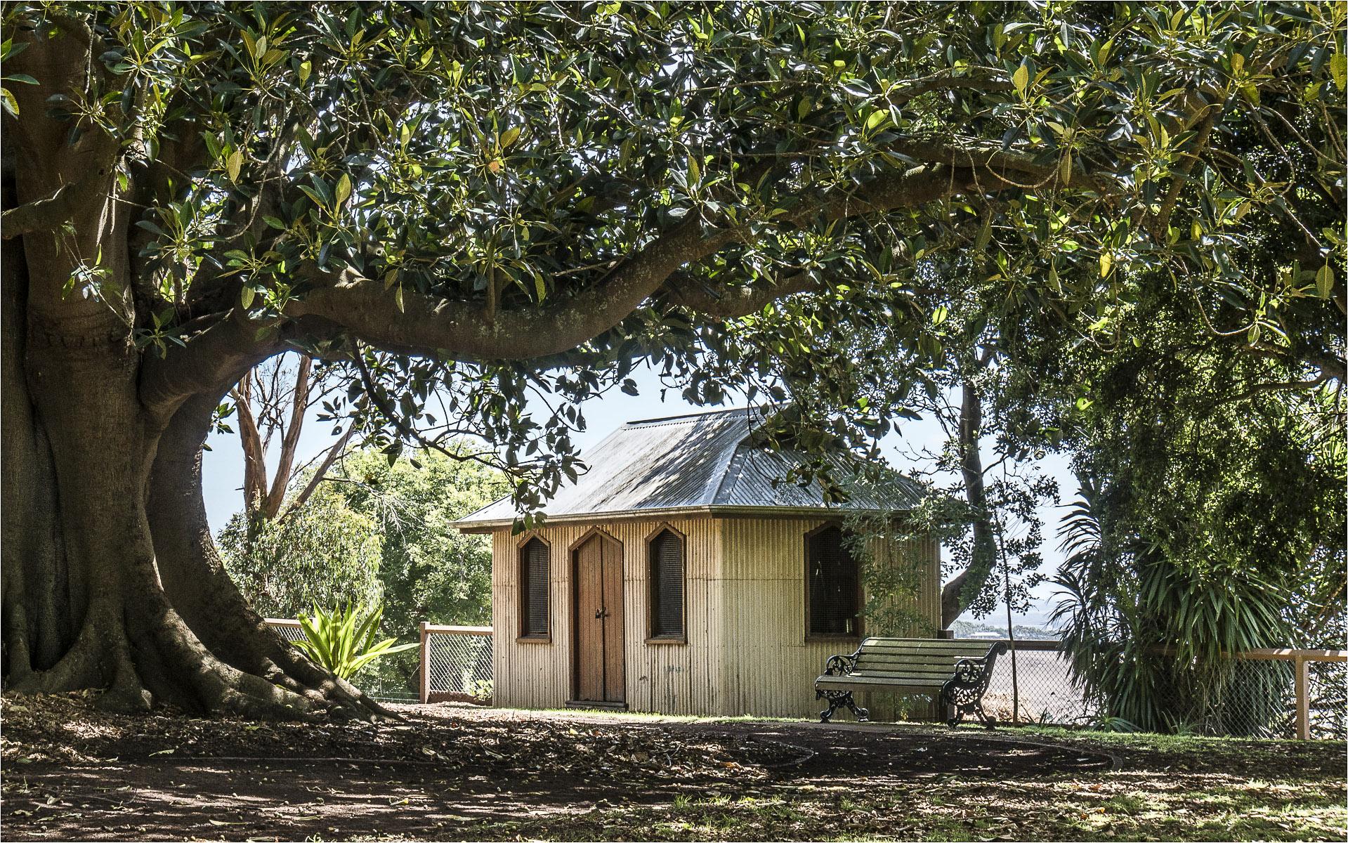 Botanic Garden Shed. Open. Peter Bellmont